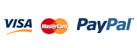 Secure payment with Visa, Mastercard, Paypal and Cash On Delivery