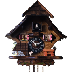 Chalet cuckoo clock with...