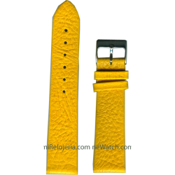 Genuine bison leather strap...