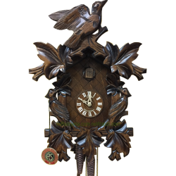 Leaf and bird cuckoo clock