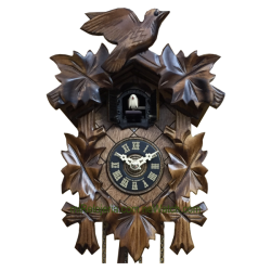 Leaf and bird cuckoo clock...