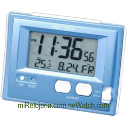 Wake up timer with thermometer