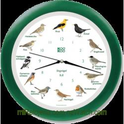 Wall Clock Birds Radio Controlled