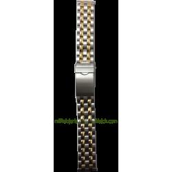 Brazalete de acero bicolor estándar 18 mm