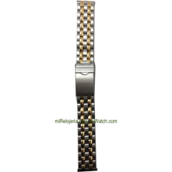 Two Tone Standard Stainless steel Bracelet 18 mm.