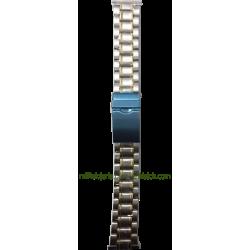 Brazalete de acero bicolor estándar 20 mm