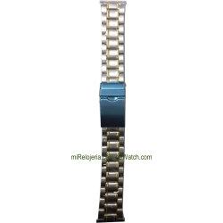 Two Tone Standard Stainless steel Bracelet 20 mm.