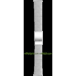 Brazalete de malla milanesa de acero estándar 18 mm