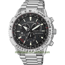 The Pilot Promaster Eco-Drive Radio Controlado Titanio Evolution