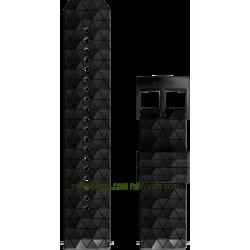 EXPLORE 2 Silicone strap Black