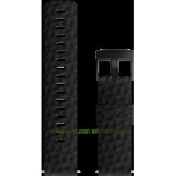 EXPLORE 1 Silicone strap Black Black
