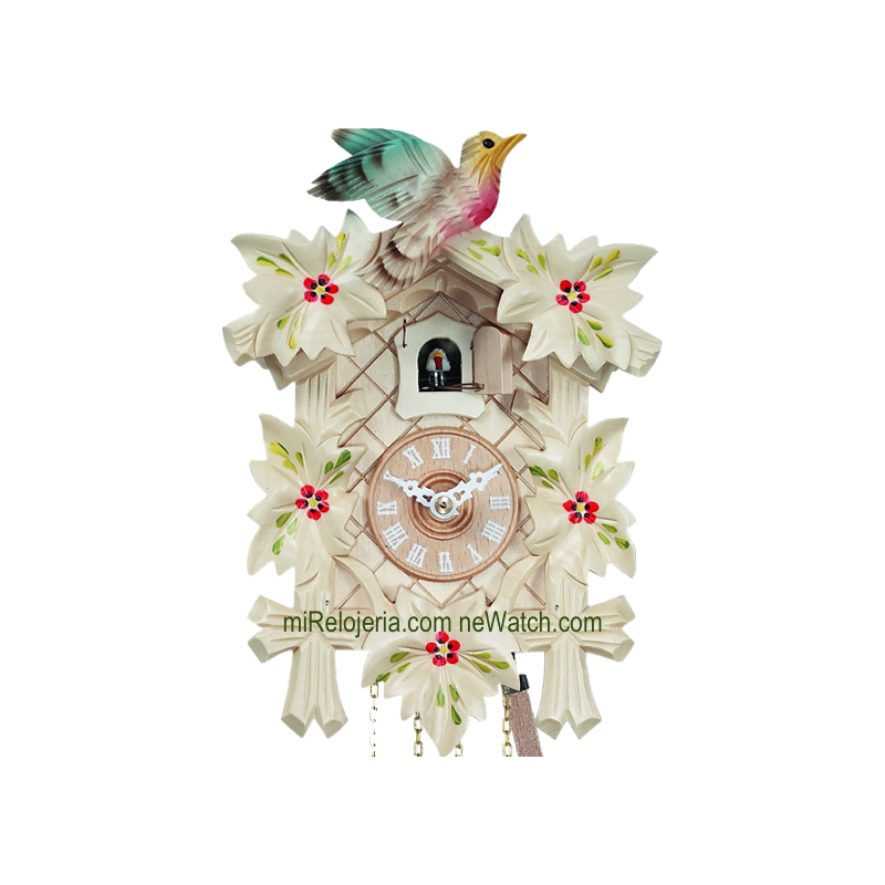 Leaf and bird cuckoo clock Engstler