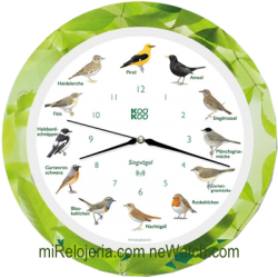 Wall Clock Birds Radio...
