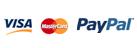Pago seguro Visa, Mastercard, Paypal y contra reembolso